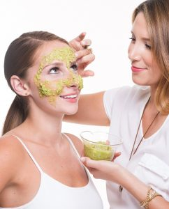 Slather the avocado mask all over your face