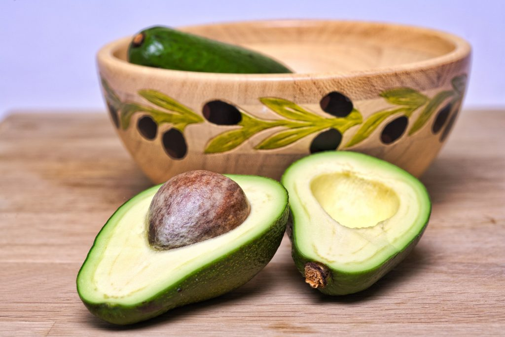 bowl of Avocado for skin