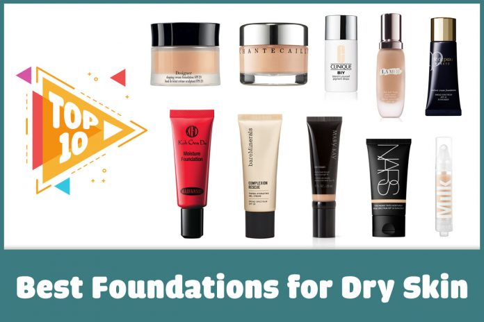 Top 10 Best Foundations for Dry Skin Featured