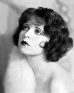 Clara Bow and straight over-tweezed eyebrows