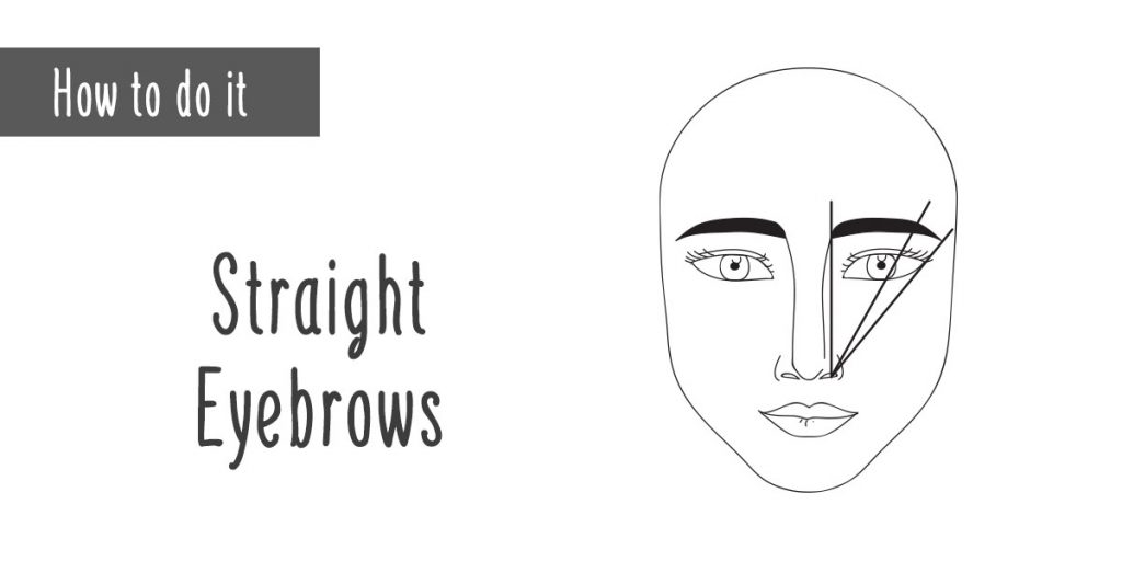 How to Straight Eyebrows Illustration