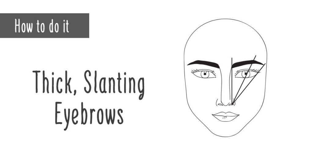 How to Thick Slanting Eyebrows Illustration