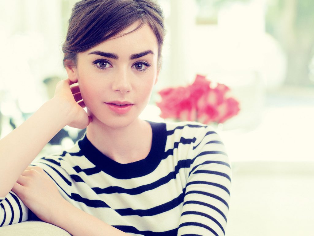 Lily Collins thick eyebrows