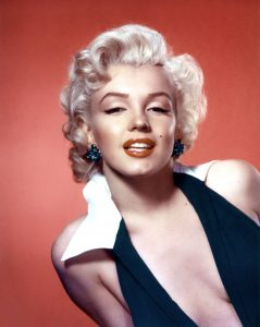 Marilyn Monroe thin high-arched eyebrows