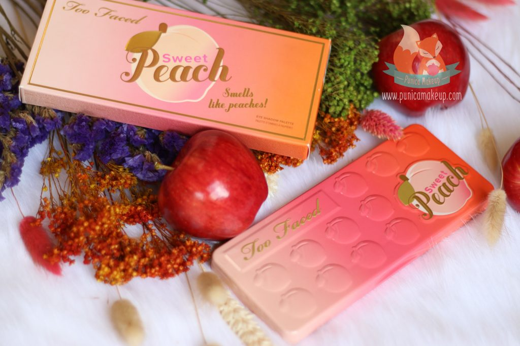 Review Too Faced Sweet Peach Eye Shadow Palette Cover