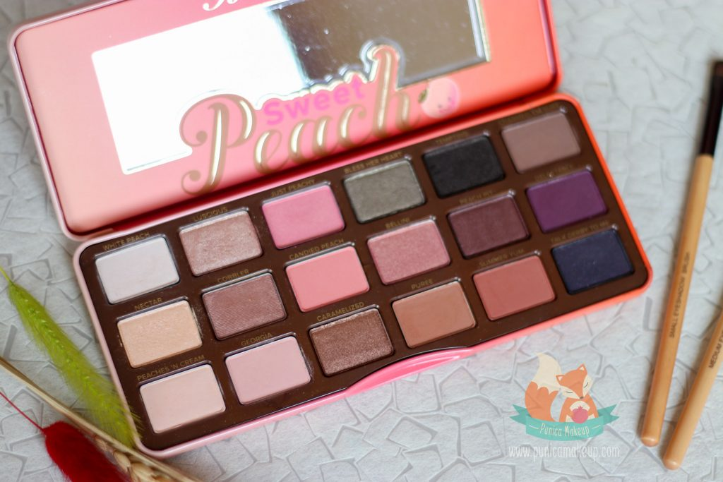 Too Faced Sweet Peach Eye Shadow Palette Shades