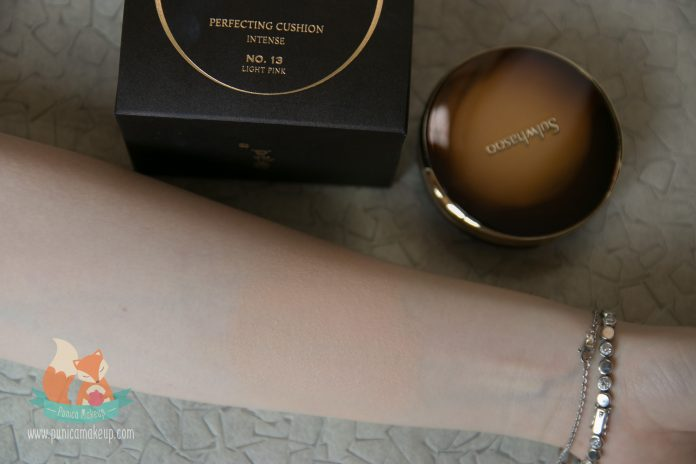 Sulwhasoo Perfecting Cushion Intense tested on my hand