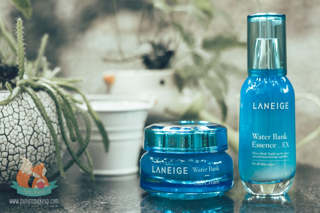 Laneige Water Bank Essence EX and Water Bank Gel Cream