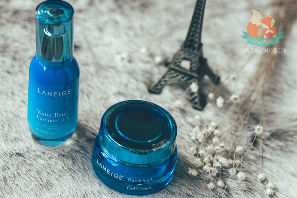 Laneige Water Bank Gel Cream and Water Bank Essence EX