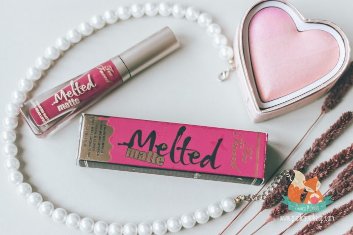 Too Faced Melted Matte Bend Snap Packaging