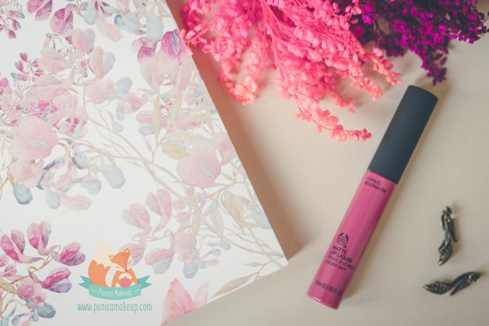 Review The Body Shop Matte Lip Liquid Cyprus Begonia