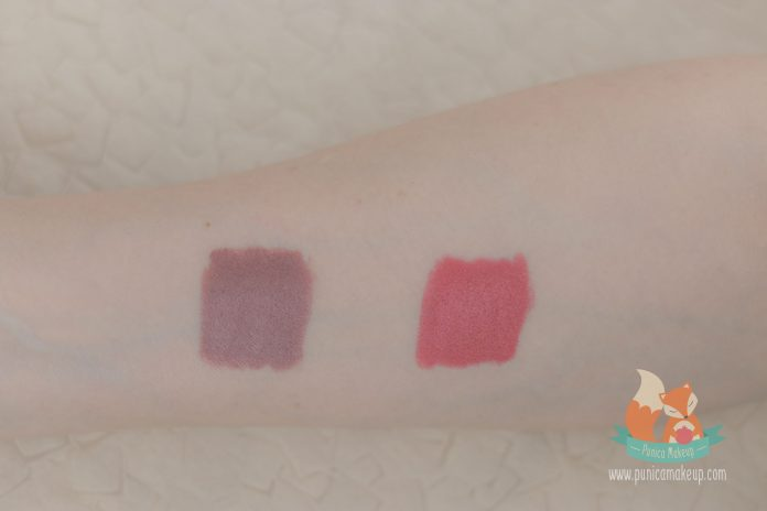 Marc Jacobs Le Marc Liquid Lip Crayon tested on my skin