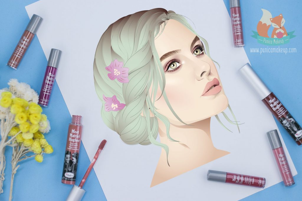 theBalm Meet Matte Hughes Long Lasting Liquid Lipstick Illustration