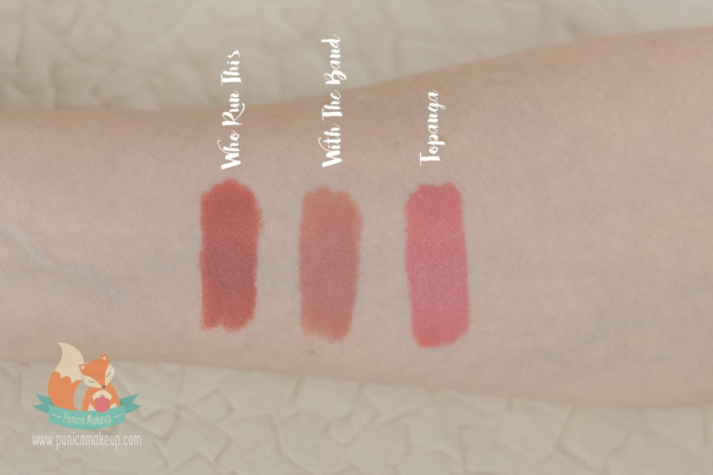 Lipstick ColourPop Lippie Stix tested on my hand