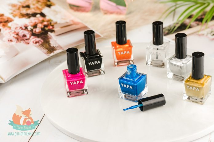 YAPA Beauty Nail Polish packaging