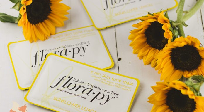 Florapy Beauty Even Skin Tone Sheet Mask Sunflower Lemon Cover
