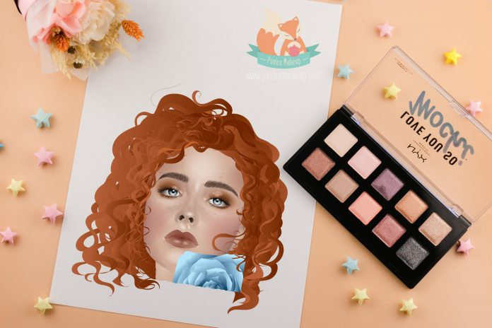 NYX Love You So Mochi Eyeshadow Palette Illustration